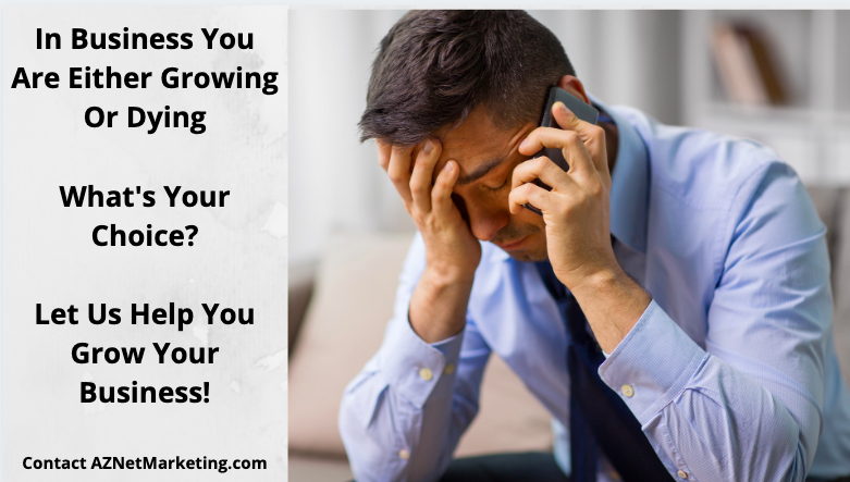 Frustrated business owner not marketing